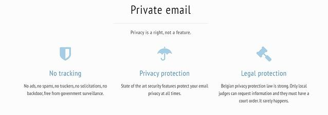 encrypted email services - mailfence